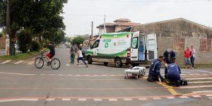 Motociclista sofre acidente em Artur Nogueira e fica ferido