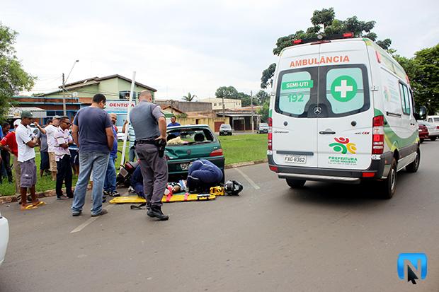4c71066cf51 Motociclista colide contra dois carros durante acidente em Artur ...