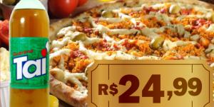ENCERRADO: Pizza de frango com catupiry + 1 refrigerante de 2L por apenas R$ 24,99