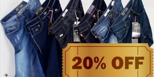 ENCERRADO: Calças jeans com 20% de desconto em Artur Nogueira
