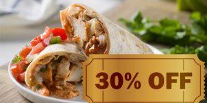 ENCERRADO: Burritos de frango ou chilli por R$ 12,50 em Artur Nogueira