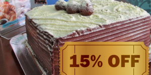 ENCERRADO: 15% de desconto em três sabores de bolos da Flamy em Artur Nogueira