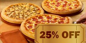 ENCERRADO: Cardápio completo de pizzas com 25% de desconto em Artur Nogueira