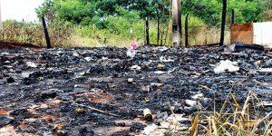 Depósito de reciclagem desativado sofre incêndio em Artur Nogueira