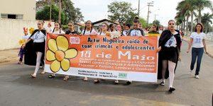 Marcha contra abuso sexual mobiliza escolas e entidades de Artur Nogueira