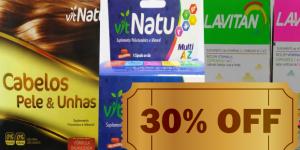 ENCERRADO: Polivitamínicos com 30% de desconto na Drogaria PoupAqui