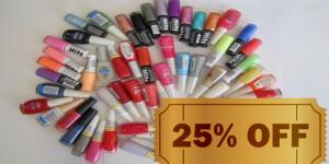 ENCERRADO: 25% de desconto em qualquer marca de esmaltes na Linda Cosméticos