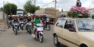 Moto romaria reúne dezenas de motociclistas em Artur Nogueira